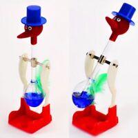 Novelty Retro Glass Happy Drinking Bird Bobbing Dipping Dippy Einstein Duck O4R7