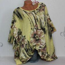 Longtunika Tunika Shirt Bluse Blume Print  48 50 52 54? Italy