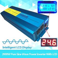 PURE SINE WAVE 4000W MAX 2000W 24V-240V POWER INVERTER CAMPING BOAT SINEWAVE