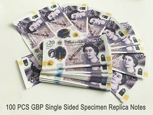 50x £20 Notes UK Pounds Movie Prop Money Fake Pounds Fake Cash GBP