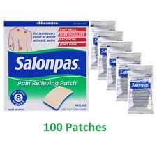 Salonpas Pain Relieving Patch x 100 patches 7.2 x 4.6cm Hisamitsu Japan 2019 exp