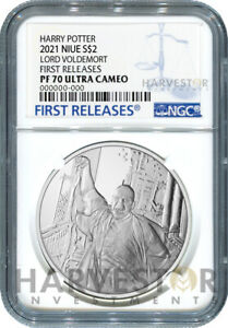 2021 LORD VOLDEMORT - 1 OZ. SILVER COIN - NGC PF70 FIRST RELEASES W/OGP