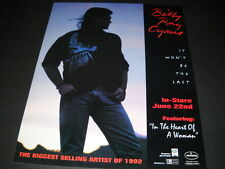 BILLY RAY CYRUS the biggest selling artist of 1992 PROMO POSTER AD mint cond