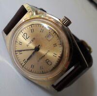 0b1e4015b67 Vintage ANKER Antimagnetic Goldplated Date UMF24 Handwinding German  Wristwach