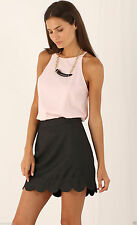 Regular Size Solid Mini A-Line Skirts for Women