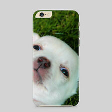 Cute White Puppy Dog Photobomb Phone Case Cover