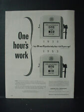 1953 Gas Pump compares Prices Union Oil California Gasoline VTG Print Ad 11130