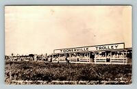 RPPC of Toonerville Trolley Tahquamenon River Trip, Newberry Michigan Postcard