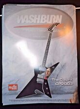 Dimebag Darrell Poster Culprit Cp2003 Washburn Guitar Pantera New Old Stock