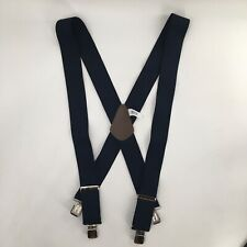 """Carhartt Utility Work Clothes Suspenders Black 52"""" Length Navy Blue Clip NEW"""