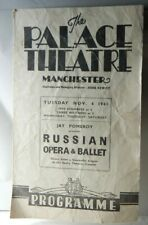 More details for 1941 palace theatre manchester russian opera & ballet programme ww2 home front