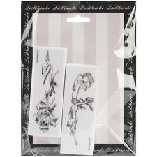 Roses Collection Silicone Mounted Rubber Stamp Set LaBlanche NEW stems buds love