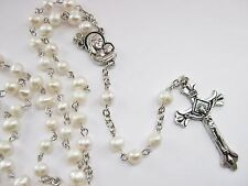 Pearl Rosary Beads Pearls Holy Communion Religious Christian Prayer Beads