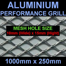 MITSUBISHI NISSAN SUBARU MG AC ALUMINIUM SILVER NET GRILL 25x100cm Mesh 10x15mm