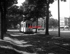 PHOTO  BELGIUM TRAMS 1959  BRUXELLES PARC ELISABETH SNCV STANDARD TRAM NO 10128