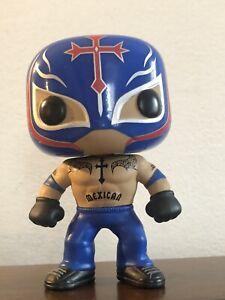 Rey Mysterio Funko Pop #6 WWE Wrestling Blue Costume Rare Vaulted Loose