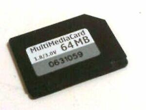 GENUINE ORIGINAL NOKIA FORMATTED 64MB MULTI MEDIA MEMORY CARD FOR 7610 N70 ETC