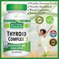 THYROID COMPLEX Energy Metabolism Blood Circulation Mood Supplement 60 Capsules