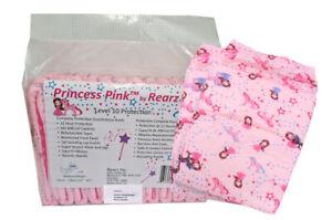 Rearz Princess Windeln mit Plastikfolie für Erwachsene (12 Stück) Gr M
