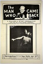 The Man Who Came Back Play By Jules Eckert Goodman Metropolitan Theatre