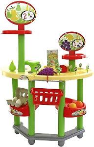 Polesie Einkaufsladen-Set mit Zubehör Obst Gemüse Kinder Spielzeug Kinderladen