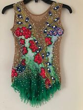 Rhythmic Gymnastic Leotard Green Size 10-12 Pre Owned