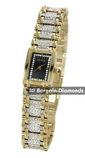 ladies Elgin gold tone party business watch crystal bracelet gift box