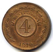 Paraguay République 4 Centesimos 1870 KM 4.1