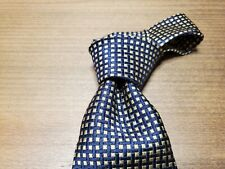 """Faconnable Gold and Black Men's Tie Hand Made in France 58x4"""""""