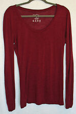 Vanity Rayon Long Sleeve Burnout Top Size L