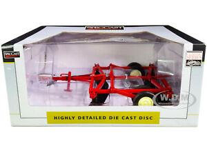 10 FOOT DISC HARROW RED 1/16 DIECAST MODEL BY SPECCAST CUST1961