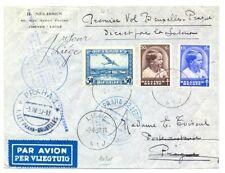 BELGIUM 1937 --SPEC FLIGHT COVER -TO CZECHOSLOVAKIA --F/VF