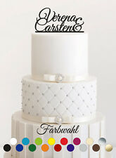 Ihre NAMEN oder Wunschtext Kuchenstecker Hochzeit, personalisiert, Cake Topper