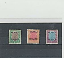 BURMA. SG 011, 012, 013. MOUNTED MINT. CAT £320.00.