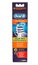 4x  Braun Oral-B Trizone Tri Zone Ersatz Aufsteckbürsten NEU & OVP Original