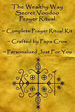 Wealthy Way Voodoo Prayer Ritual Kit Wealth Success Business Money Investment