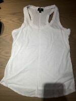 7 for all mankind Women's White Tank Size Medium