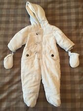 matalan Baby Blue Padded Snowsuit Age 3-6 Months.