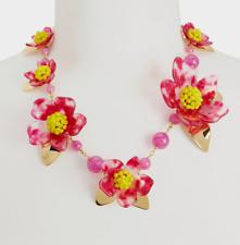 Kate Spade New York Botanical Garden Resin Statement Necklace Pink