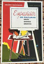 Vera Cortes Exposicion Pinturas Galeria Guaraguao Poster Puerto Rico 1976