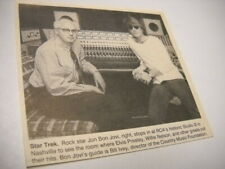 Jon Bon Jovi w/ Bill Ivey at Studio B in Nashville 1993 music biz promo pic/text