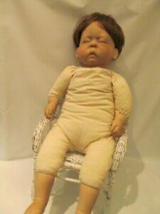 "23""  Cloth and Vinyl  Lee Middleton Sleeping Baby Doll 1977 Cherish"