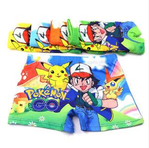 10 PCS Pokemon Go Pikachu Children Underwear Cotton Panties Boxer Brief Boy Kids