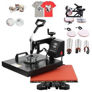 8 in 1 Digital Heat Press Transfer T-Shirt Mug Hat Sublimation Printing Machine