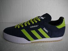 Adidas Originals Samba Super Blue Suede CUSTOM Green Stripes & Laces (UK10) BNIB