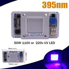 50W Watts UV 395nm 110/220V Alta Potência Chip De Led Driver embutido 1-10 Ultra Porre