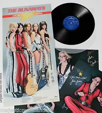 THE RUNAWAYS LIVE LP 1977 JAPAN ORIGINAL GATEFOLD +PHOTOS N.MINT RARE