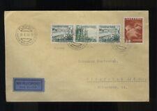 ÖSTERREICH - AUSTRIA 1938 Flugpost Mischfrankatur mit DR Zusammendruck aus Wien
