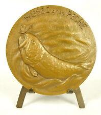 Médaille La pêche à la mouche the fly fishing la truite trout La Buissière Medal