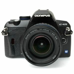 Olympus E-420 DSLR Camera Body with 14-24mm f3.5-5.6 Zuiko Lens (AS-IS)
